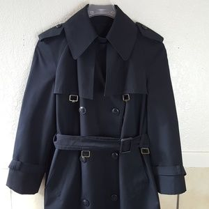 Etienne Aigner NYC black belted waist trench coat